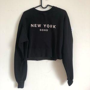 Brandy Melville New York Long sleeve crop sweater